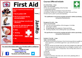 The need for you to take first aid training